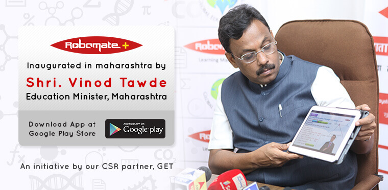 Robomate+ Inauguration in Maharashtra by Mr. Vinod Tawde, Education Minister of Maharashtra