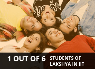 1 out of 6 students of Lakshya in IIT